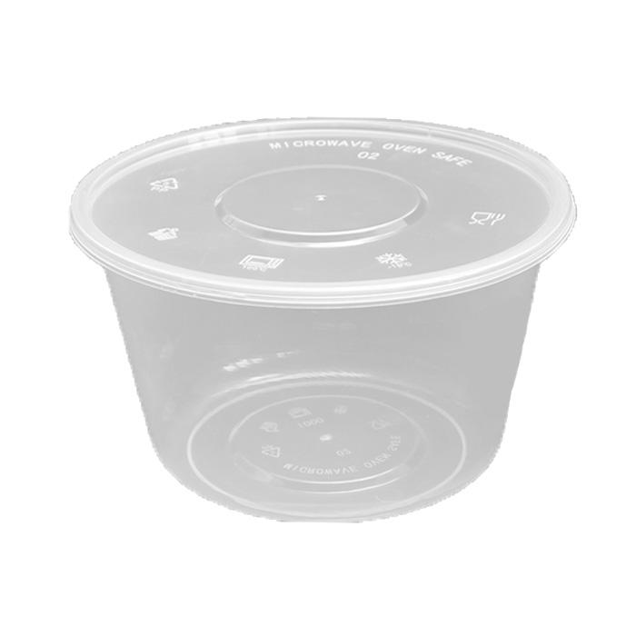 Toko Grosir Wadah Makanan dan Minuman - Thinwall Bowl 1000 ml Bulat Datar